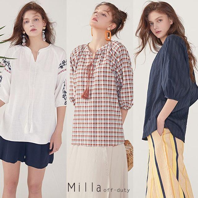 [오플][MILLA] 밀라 썸머 프로방스 블라우스 3종