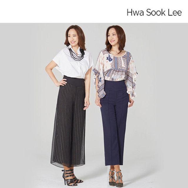 Hwa Sook Lee 화숙리 시그니처 쉬폰 매직 팬츠 2종