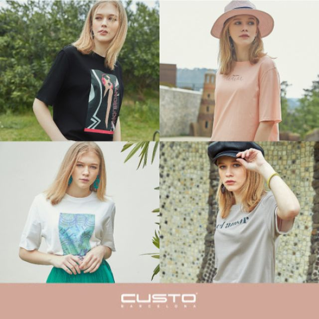 19SS 최신상쿠스토바르셀로나 오리지널 아트웍 티셔츠 4종