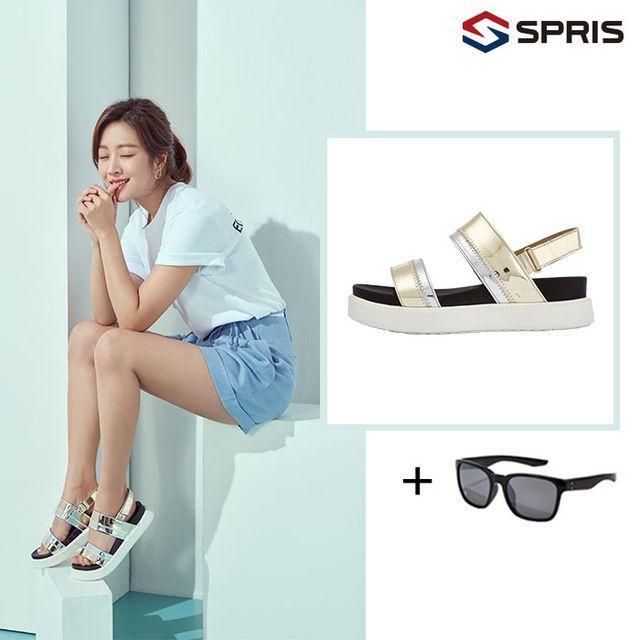 [여] SPRIS 스프리스 에어라이트 샌들 + 패션 선글라스 + 쿠션홀릭 스니커즈 (총3종)