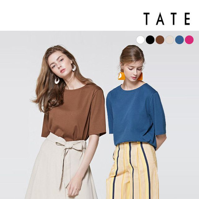 [TATE][여성] 19 면실켓100 여름 데일리 티셔츠 6종