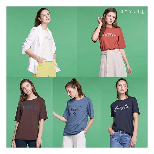 스타일J 19 Summer 레터링 티셔츠 5종
