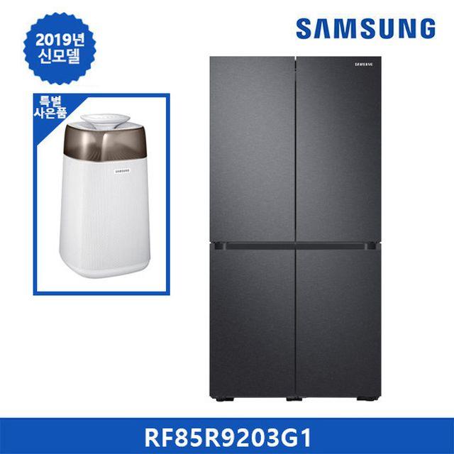 삼성 냉장고 비스포크 5도어(메탈) 다크그레이 RF85R9203G1+삼성 공기청정기