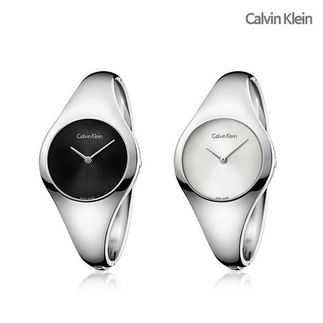 CK 캘빈클라인 라운드 뱅글 여성시계(런칭가 138,000원)