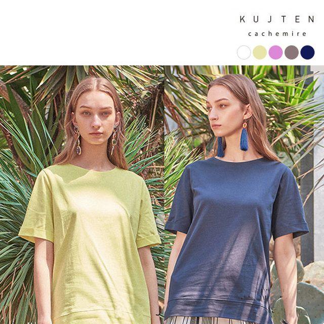 KUJTEN 쿠즈텡 [여성] 오가닉 코튼100 썸머 원피스1종+티셔츠4종+라탄백