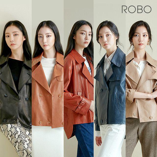 로보 베지터블 숏 트렌치재킷