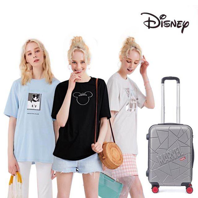 4만원 가격인하 [디즈니] 여성 바캉스패키지(티셔츠3종+캐리어1종)