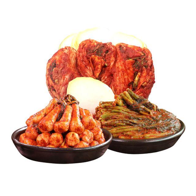 3가지 맛을 다양하게~! 8/16 16:26 런칭 방송!박미희달인김치(팔도포기김치3kg+총각김치3kg+갓김치3kg)