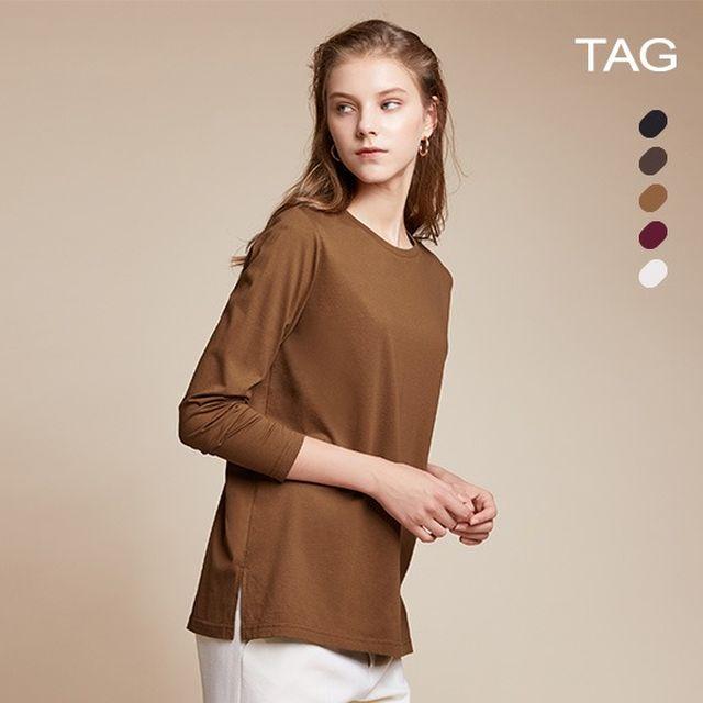 태그 19FW 여성 코튼 실켓 티셔츠 5종