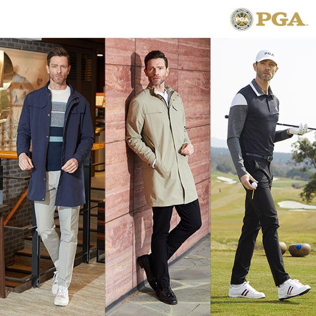 [원][PGA] 19 SS 라운딩 자켓+셔츠+팬츠 3종 세트 [남성]