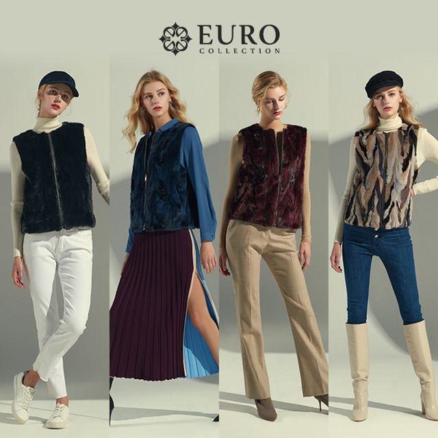 [EUROcollection]유로컬렉션 밍크 레이어링 숏베스트