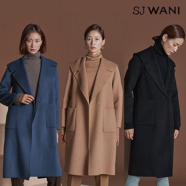 SJ WANI 핸드메이드 캐시실크 후드코트
