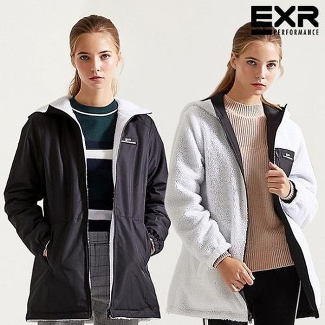 EXR 19FW 최신상 리버시블 플리스 재킷_여성용