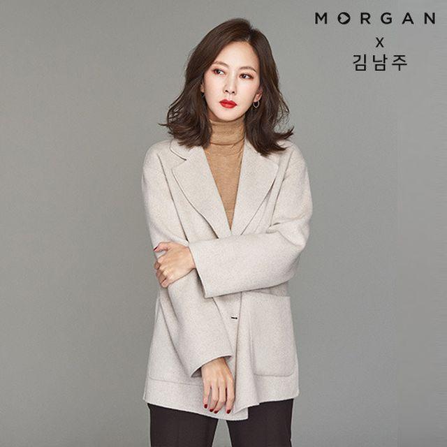 김남주의 모르간(4년 연속 GS 재킷 1위 브랜드) 신상품[19FW] MORGAN 뉴 핸드메이드 울 재킷