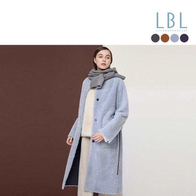 [LBL X 슈퍼띵스] 하이 FAUX  롱 무스탕 + 후드머플러 2종