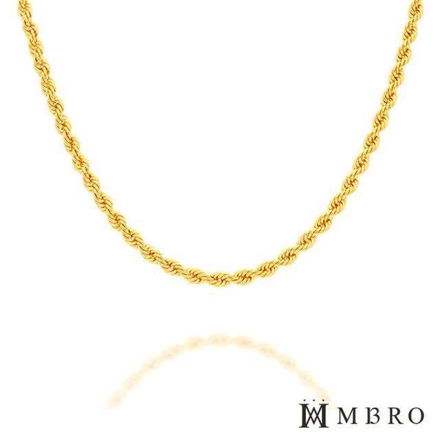 엠브로(MBRO) 24K 순금 포나인 로프체인 목걸이(37.5g)