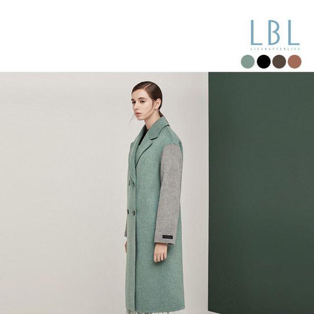 [LBL] 캐시울 컬러 핸드메이드 이중지 코트