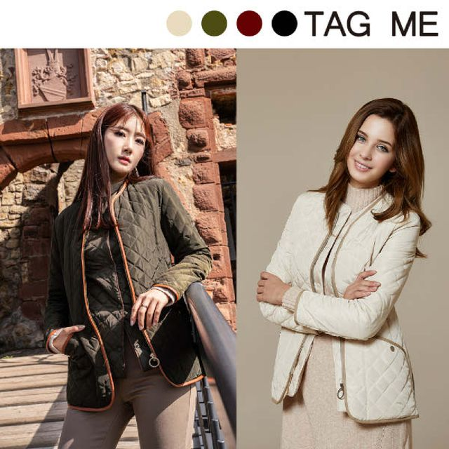 [TAG ME] 19FW 여성 클래식 퀼팅 재킷 + 패딩 베스트 + 머플러 (총 3종)