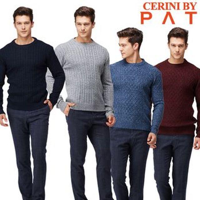 [농협카드5%할인][NS Shop+]CERINI by PAT 남성 니트 스웨터 4종