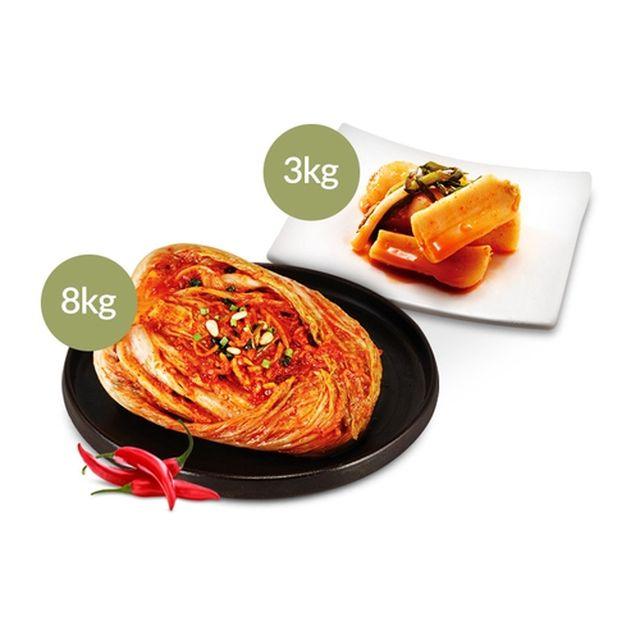 [설정숙김치본가] 포기김치 8kg + 총각김치 3kg