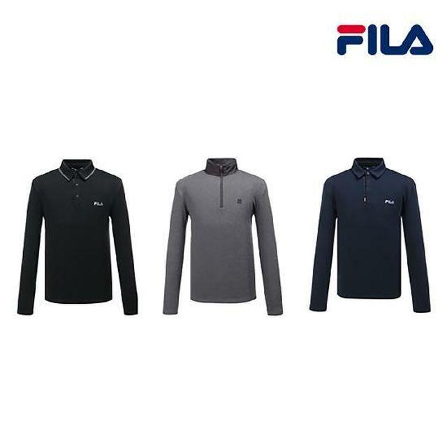 (남성)휠라 옵티마웜 윈터 기모 셔츠 3종