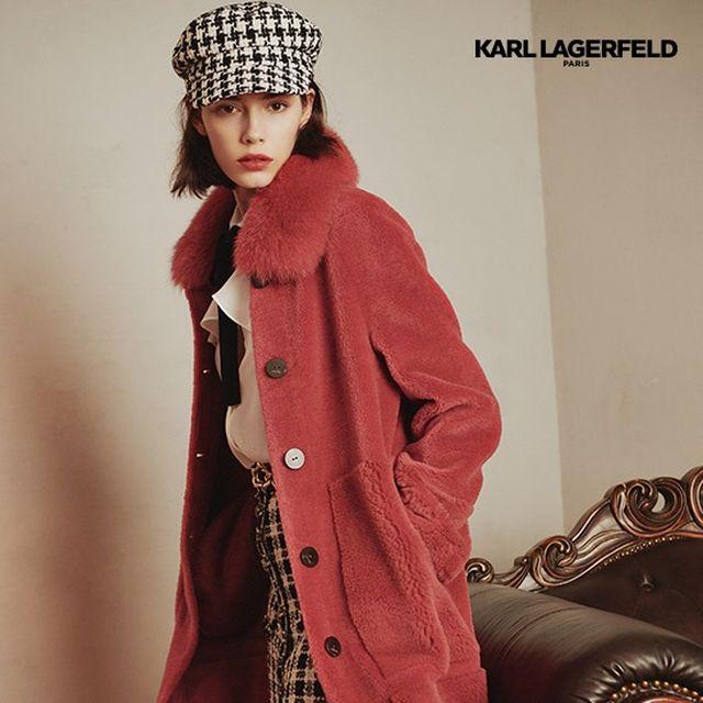 [Karl Lagerfeld]칼라거펠트 사가폭스 슈페트양모코트