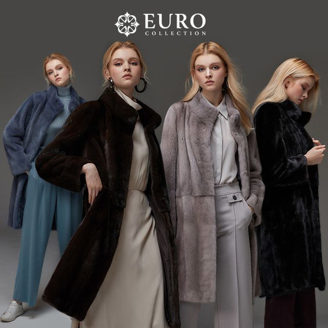 (Made in Europe)[EUROcollection]유로컬렉션 X CPL 코펜하겐 휘메일 풀스킨 밍크 롱코트