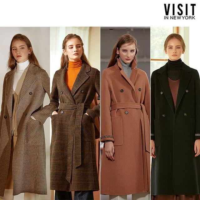 [VISIT IN NEW YORK]비지트인뉴욕 여성 핸드메이드 벨티드 코트