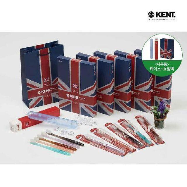 [국민5%할인](초특가/영국 왕실 납품브랜드)켄트 프리미엄 NEW초극세모 칫솔 풀세트(25개)