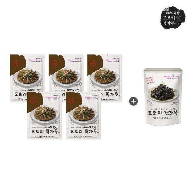 [카드 5%할인][실속구성] 김영근 식품 명인 도토리묵 가루 120g x 5봉 + 건조묵 50g x 1봉