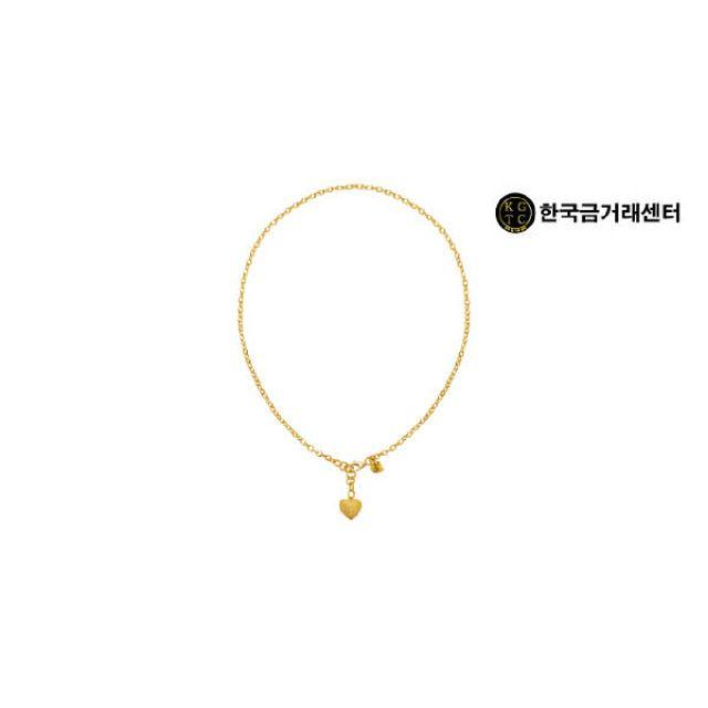 한국금거래센터 24K 순금 볼륨 하트 목걸이 (18.75g)