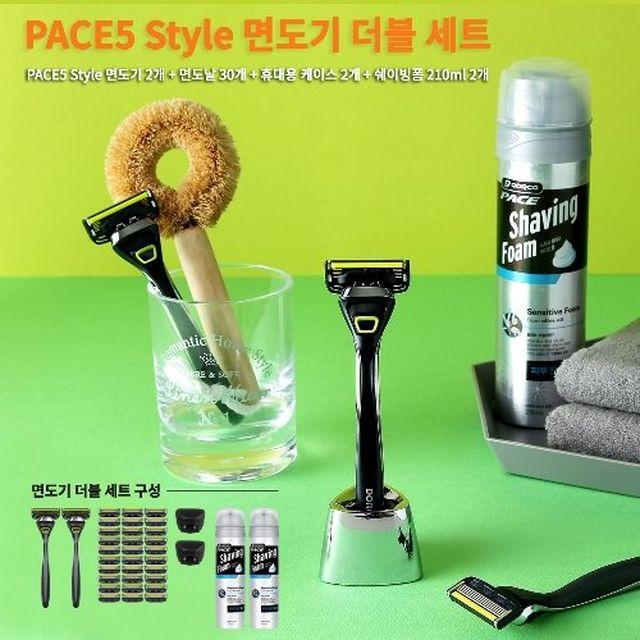 ★무료체험★ 도루코 페이스5 스타일 면도기 더블세트