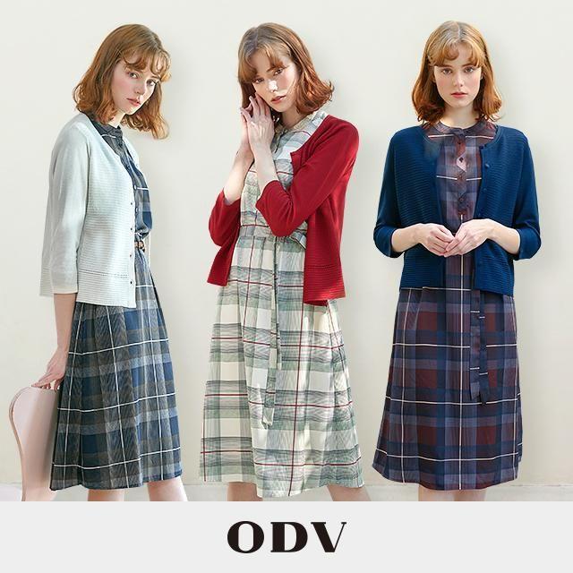 20SS ODV 오디브 썸머 체크 원피스 카디건 세트 (원피스+카디건)
