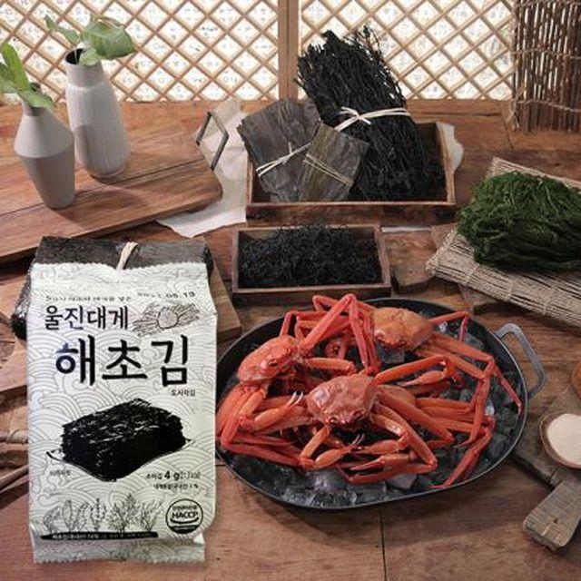 ★5가지 해초로 만든★울진 대게 해초김 120봉