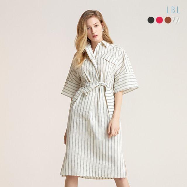 [LBL]2020 NEW 플로트 코튼 블랜디드 셔츠 원피스