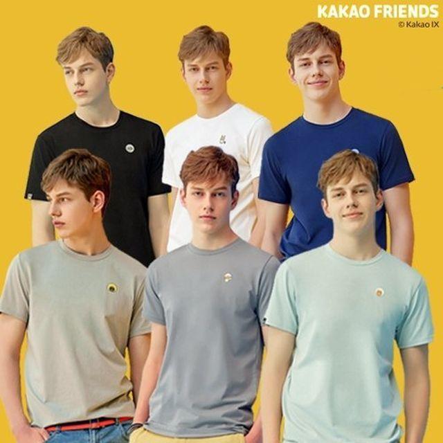 [20SS] 카카오프렌즈 기능성 티셔츠 6종, 남성