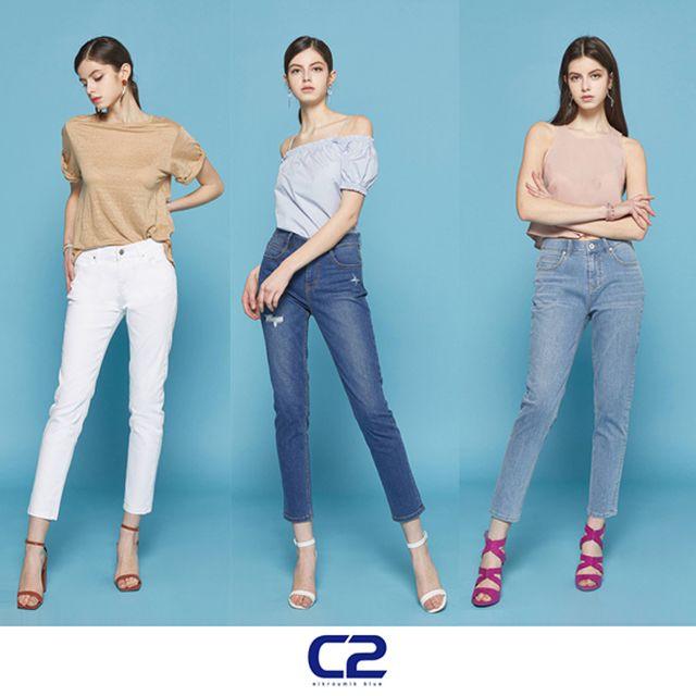 C2 여성 썸머 슬림핏 데님 3종
