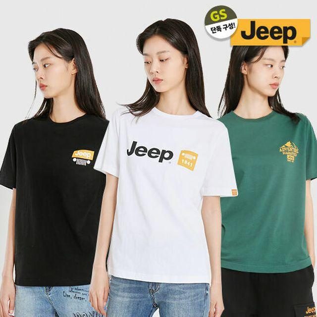 GS X JEEP 스페셜에디션 기획 [지프] 20년신상 옐로우라벨 반팔티 3종SET S~2XL 남녀공용