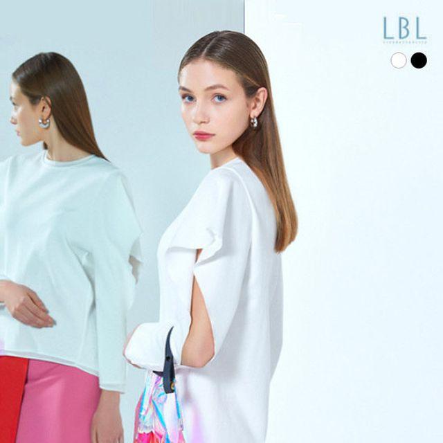[LBL X 슈퍼띵스] 오픈 슬리브 티셔츠 2종