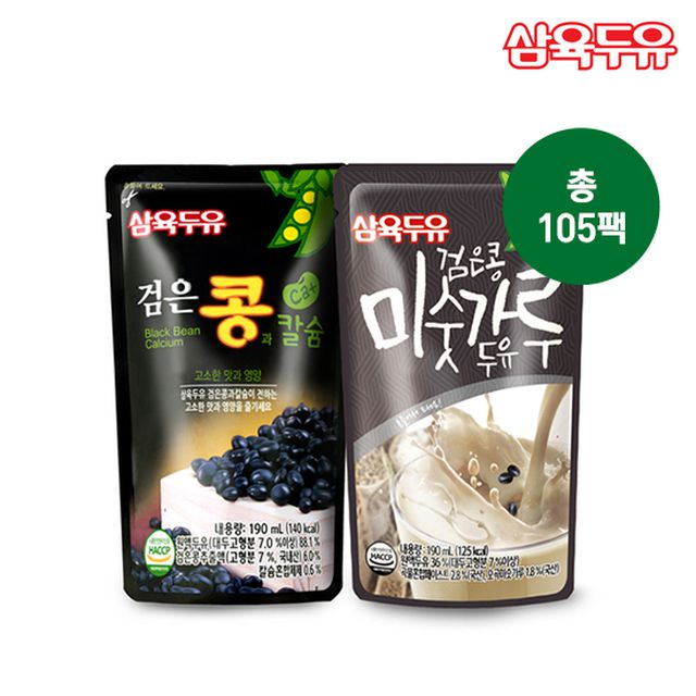 무료체험5팩_삼육검은콩미숫가루60팩+검은콩두유45팩
