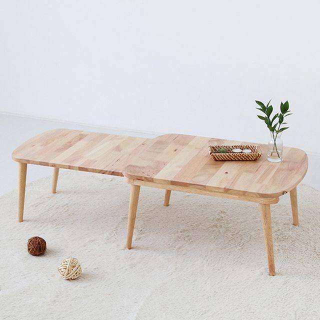 [마켓비] PONDU 확장형 원목 테이블