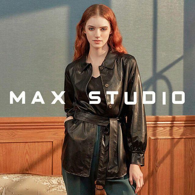 막스 스튜디오 20FW 에코레더 셔츠 재킷 1종 (벨트포함)