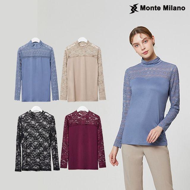 몬테밀라노 2020 레이스 이너 블라우스 4종 세트