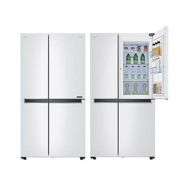 [국민카드5%할인]LG전자 양문형 디오스 냉장고 S833W32+양수냄비