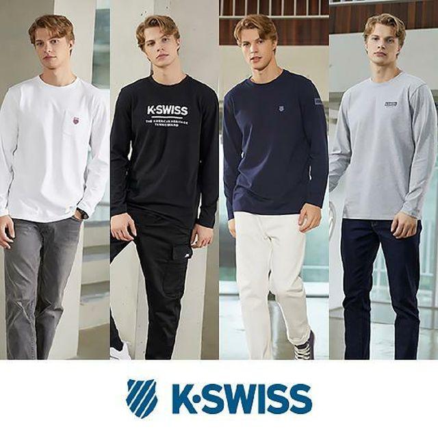 [국민5%할인][초특가](남성)케이스위스 에센셜 긴팔 티셔츠 4종