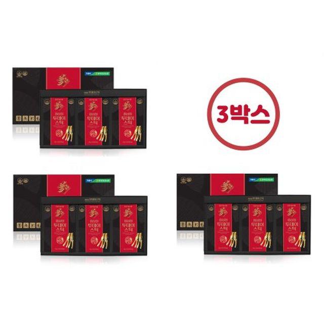 [삼누리] 홍삼정 투데이 스틱 3박스 (총 90포) + 선물용 쇼핑백 3개 증정