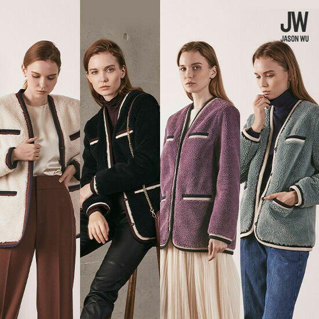 영부인의 디자이너 제이슨우다운 한 끗 디테일 [20FW 최신상]제이슨우 덤블 무스탕 재킷 1종