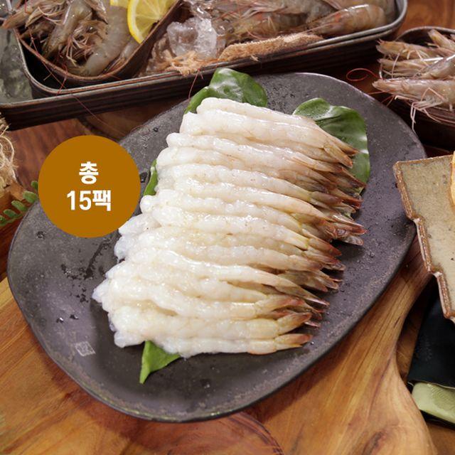 참바다 손질새우 총 300마리 (140g(20미)*15팩)