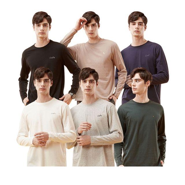 [아놀드파마] 20년 FW 남성 코튼 긴팔라운드 언더셔츠 (6종) (1)