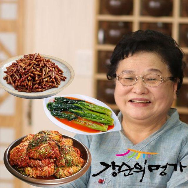 [강순의명가] 포기김치 6kg + 여수돌산갓물김치 2kg + 마늘쫑고추장무침 1kg (3종, 9kg)